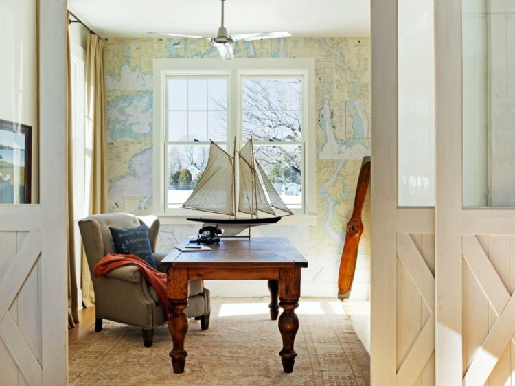 decorar con arte habitacion amarillo barcos ideas