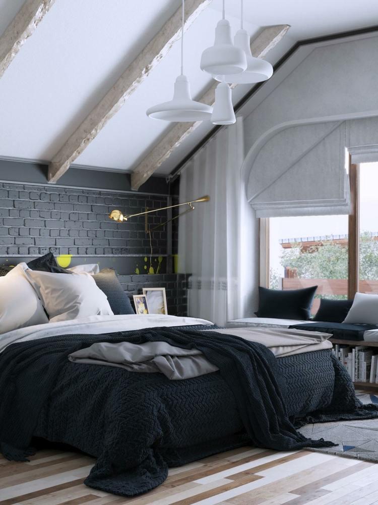 decorar con arte habitacion fresca vigas