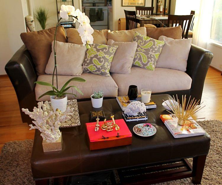 decorar mesa salon elementos naturales