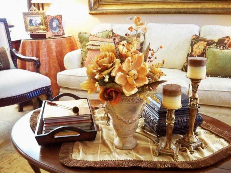 decorar mesa salon casa detalles velas cuadros