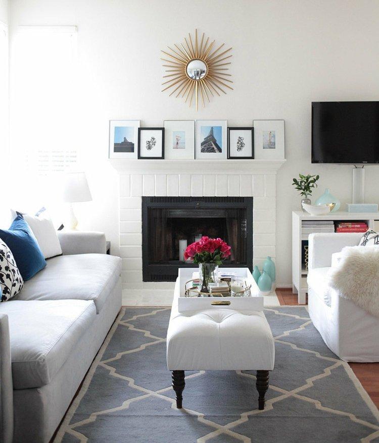 decorar mesa salon casa detalles azules
