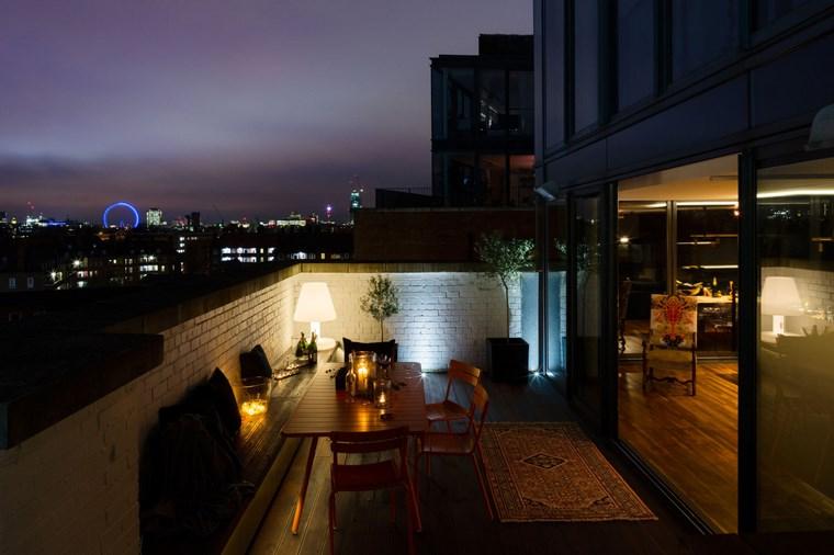 decorar terraza pequena iluminada preciosa ideas
