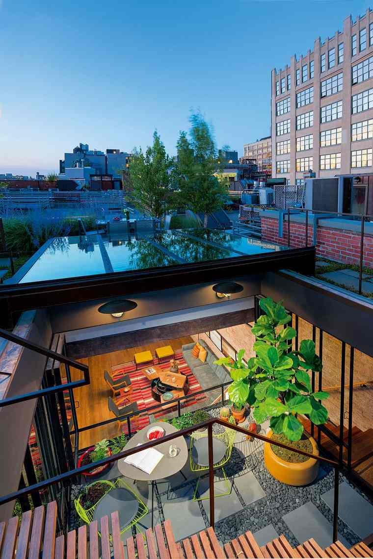 decorar terraza pequena mesita sillas ideas