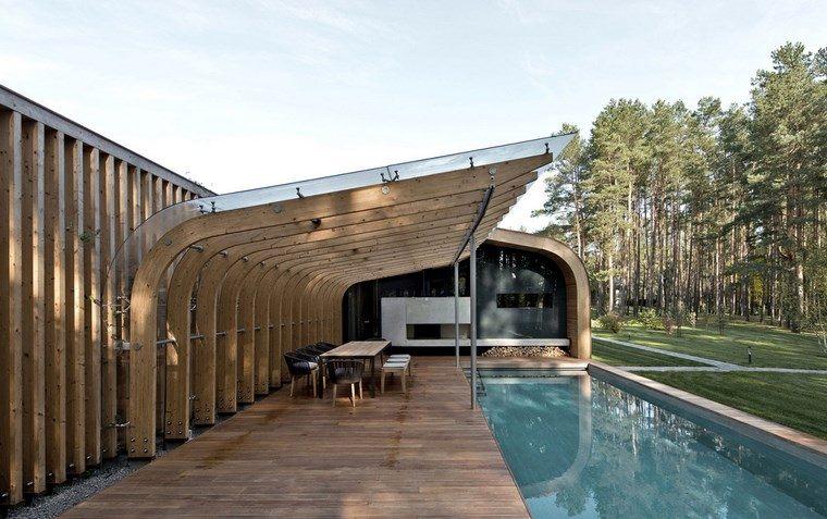 decorar terraza pergola grande madera ideas
