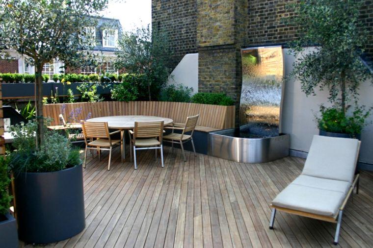 Decorar terrazas peque as con muebles y plantas for Terrazas modernas exterior