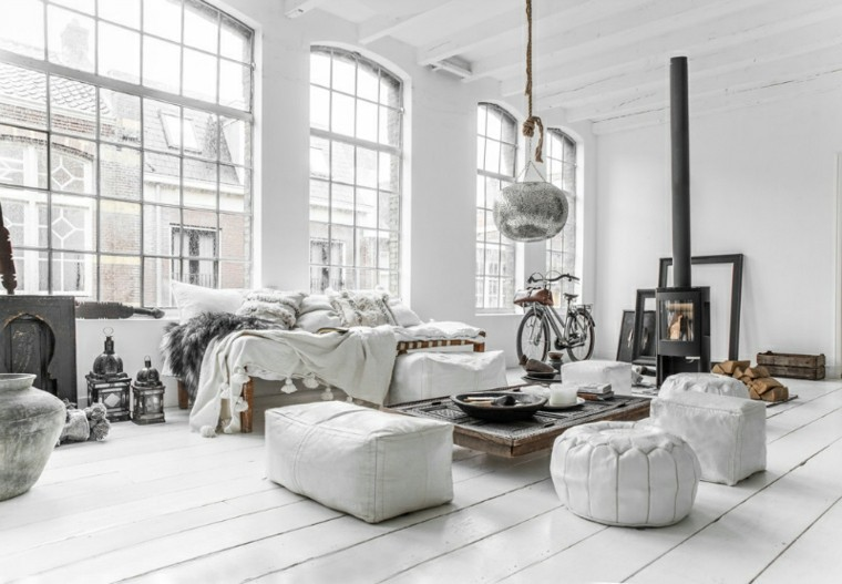 decoracion escandinava madera blanca