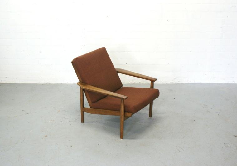 sillon diseño moderno marrón