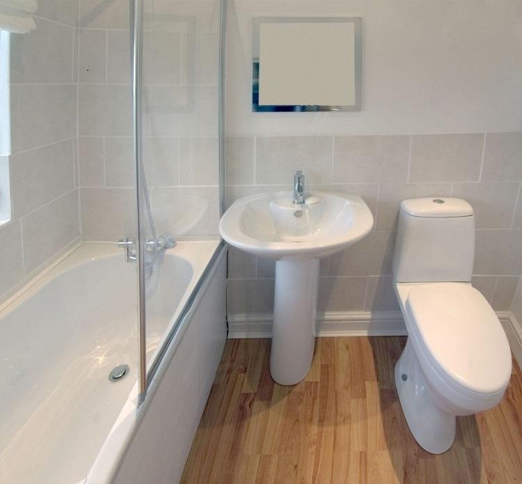 diseño cuarto baño moderno madera