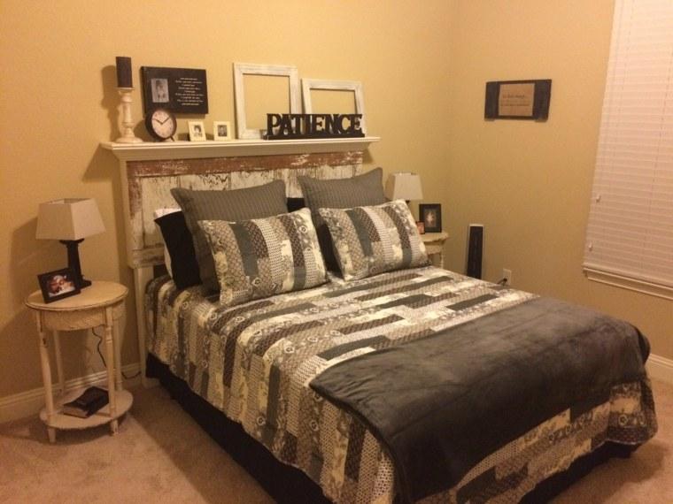 diseño cabecero cama casero madera