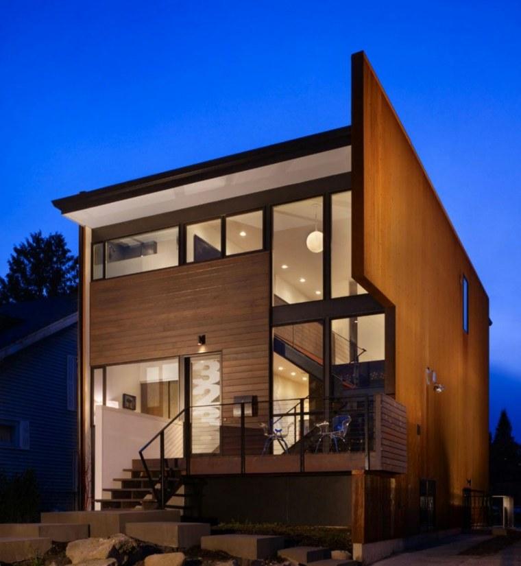 Fachadas de casas modernas treinta y ocho dise os for Casa moderna warehouse