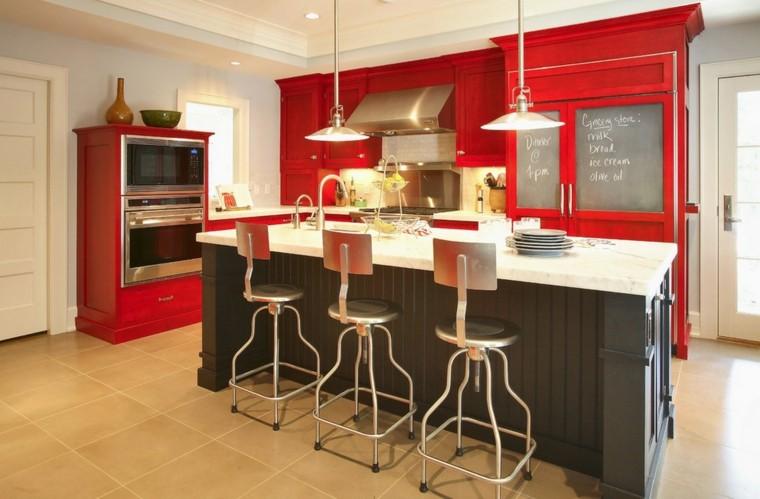 diseño cocina acentos estilo retro