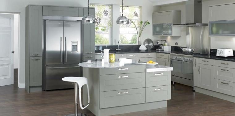 Cocinas blancas y grises los 50 dise os m s actuales for Cocinas en color gris claro