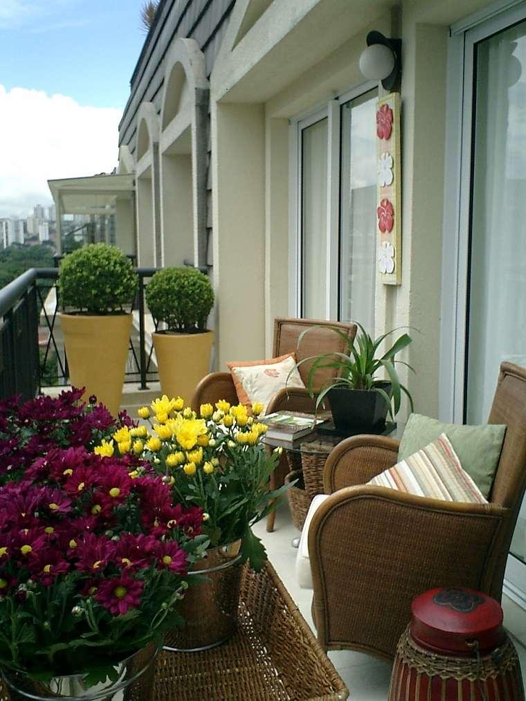 diseño terraza decoración plantas
