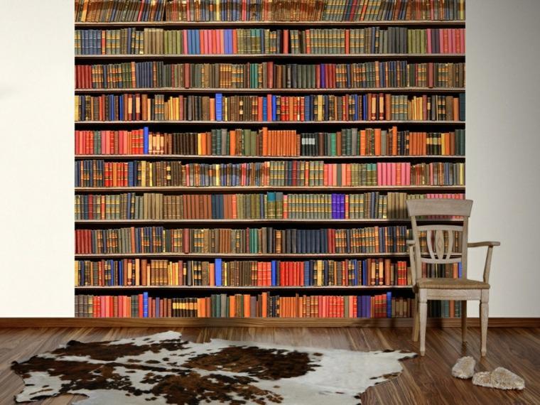 diseño decoración libros colores