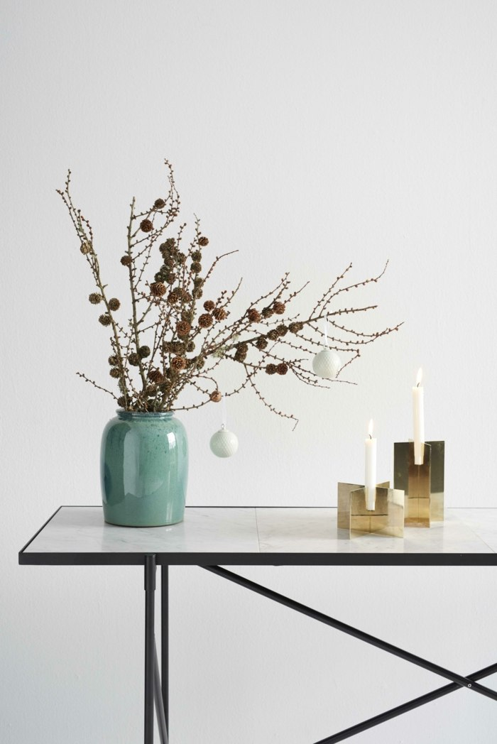 diseño elegante piezas decorado acero frutas