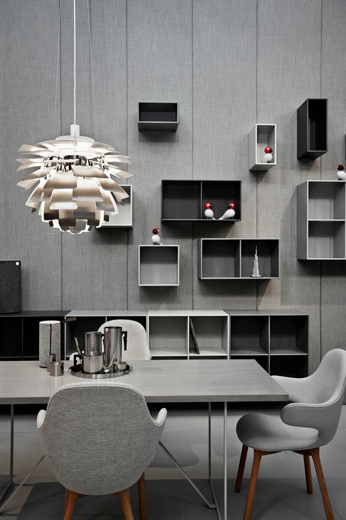diseño elegante piezas maderas detalles estantes