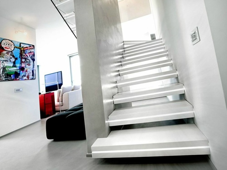 diseño escaleras modernas luces integradas