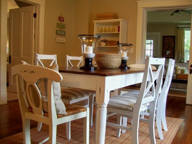 diseño comedor estilo rustico vintage