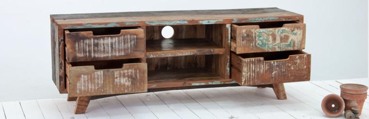 diseño estupendo mueble madera reciclada