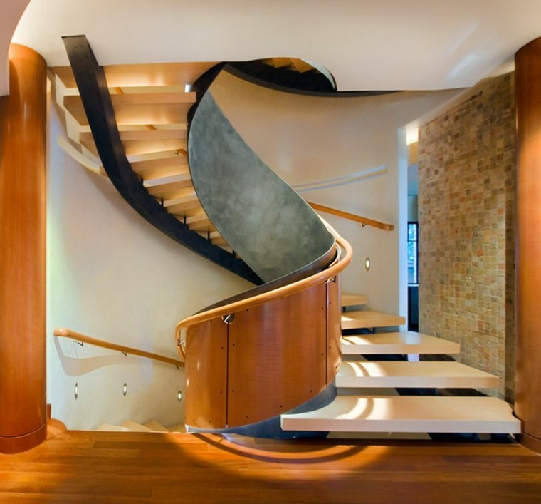 diseo estupendo escaleras caracol interior