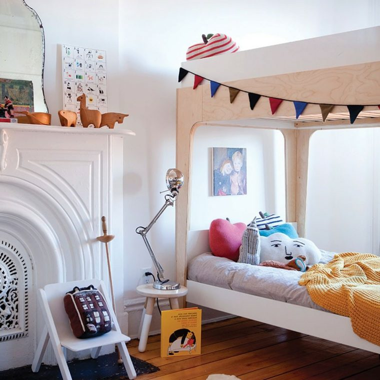 diseño habitación infantil moderna madera