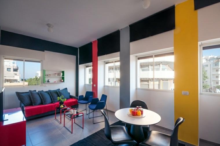 diseño interior colores estilo bauhaus