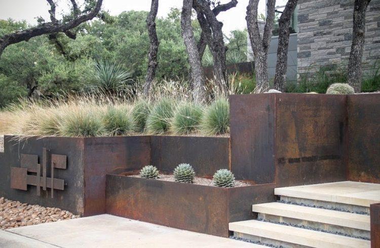 diseño jardín moderno elementos