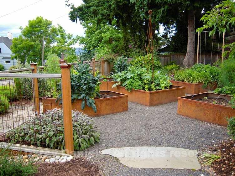 jardines modernos jardineras corten