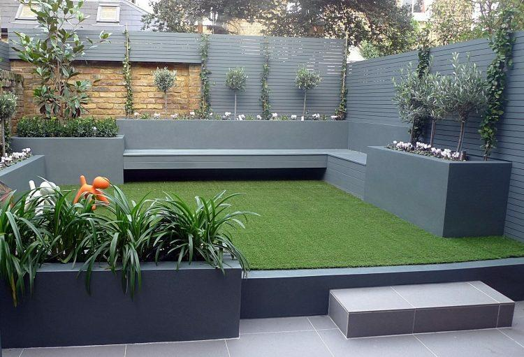 diseño terraza trasera moderna
