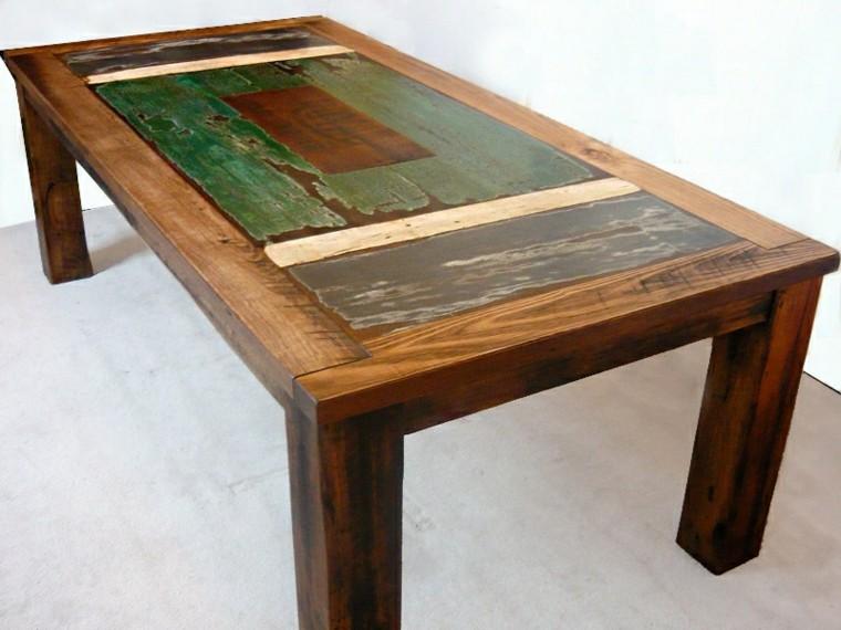 Muebles reciclados de dise o por un futuro m s ecol gico - Mesas madera reciclada ...