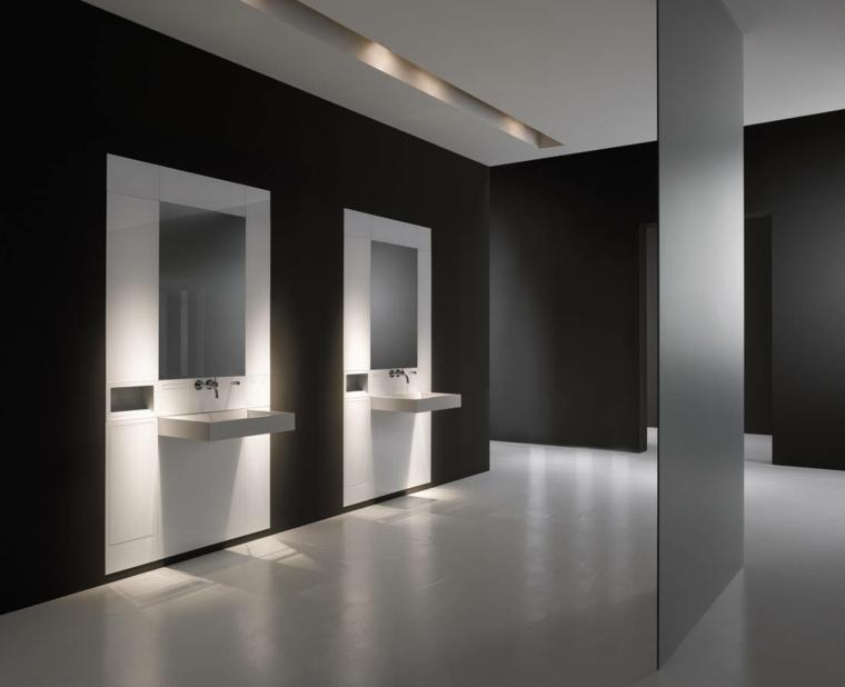 Baños Diseno Minimalista:Cuartos de baño de estilo minimalista – 50 diseños oscuros -