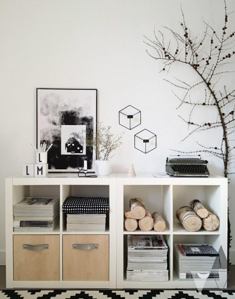 diseño mobiliario conexion negro cuadros
