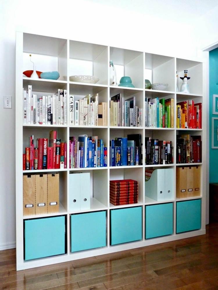 diseño mobiliario variantes azules libros pendientes