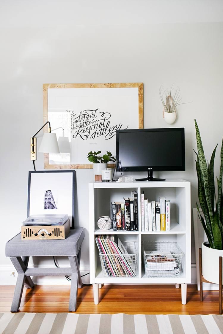 diseño mobiliario variantes salones libreros televisor