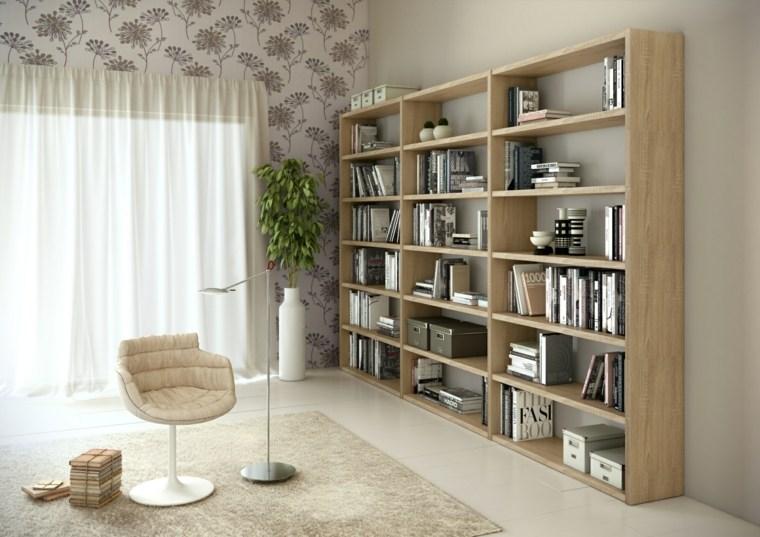 Bibliotecas grandes para salas de estar modernas for Diseno de muebles para salas pequenas