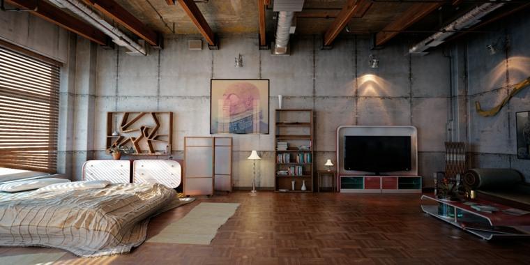 Estilo industrial una decoraci n joven y urbana for Habitacion decoracion industrial