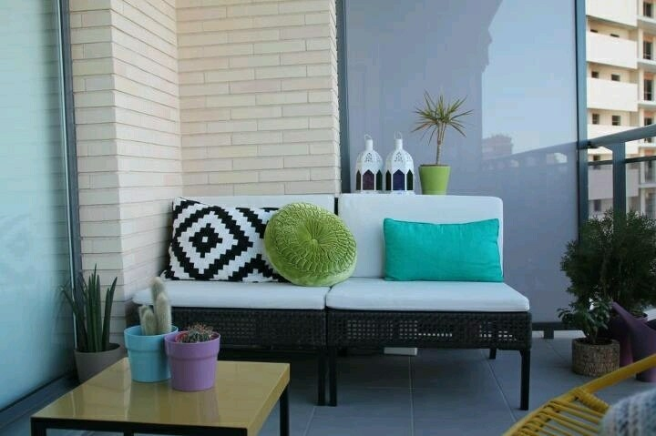 diseño moderno deco terraza pequeña