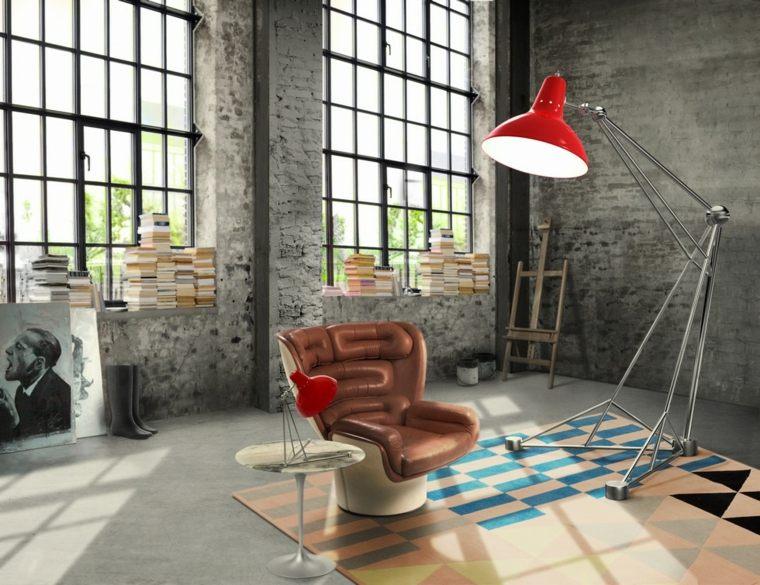 diseos de interiores de estilo industrial