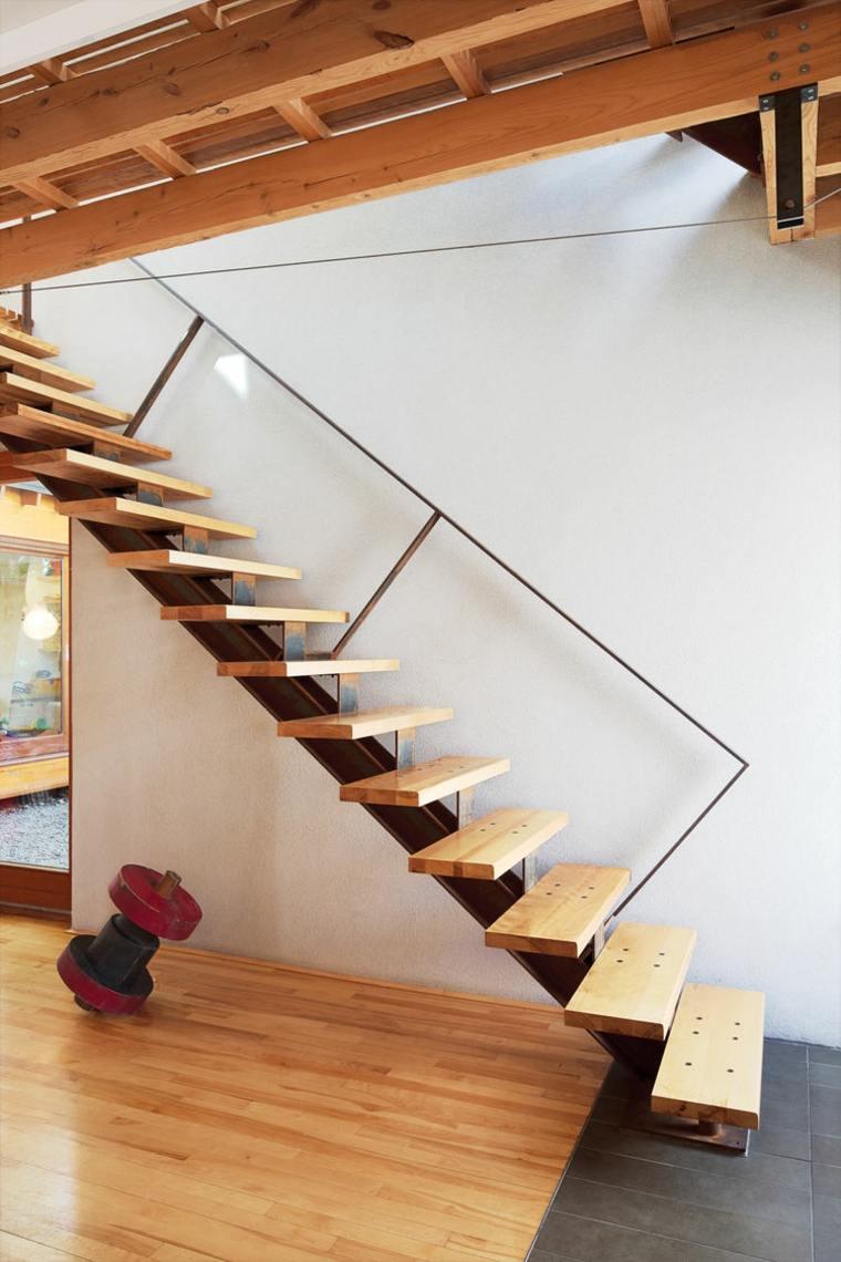 Escaleras de interior modernas 50 dise os que marcan tendencia - Escaleras de madera ...