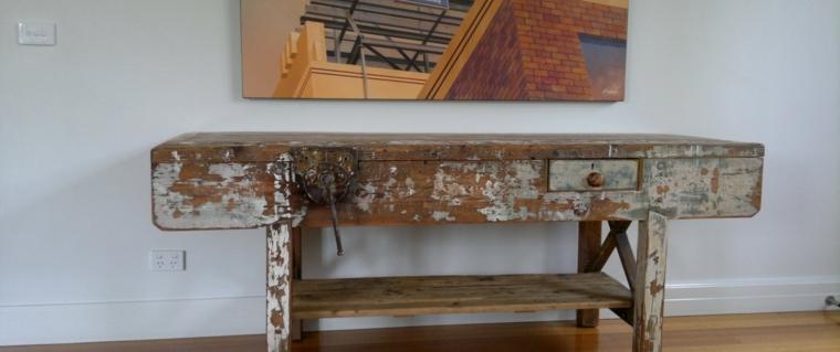 diseño original mesa reciclada madera