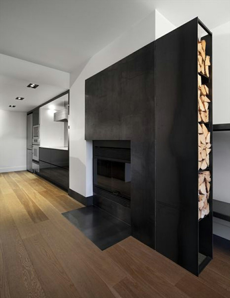 Salones con chimenea moderna 50 interiores c lidos for Disenos de chimeneas