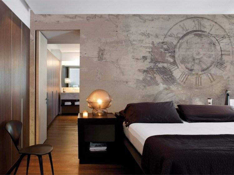diseño modeno papel dormitorio