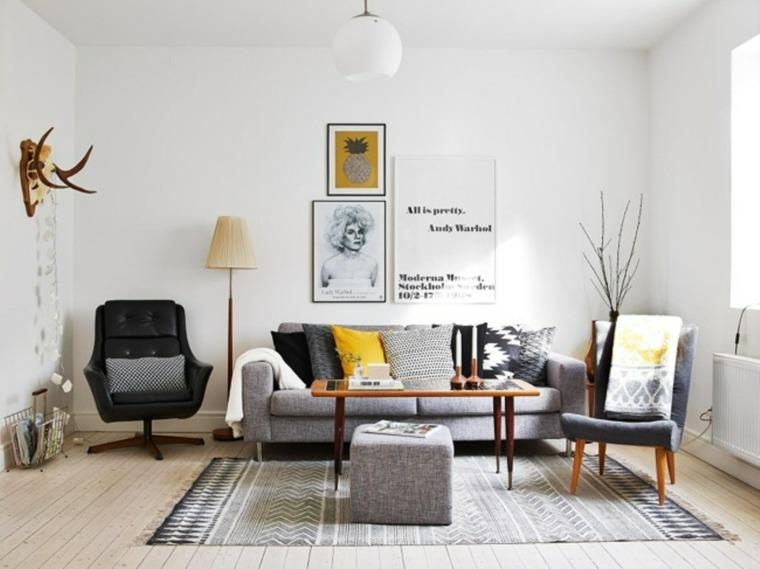 diseño salón estilo nórdico moderno