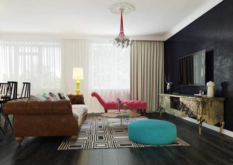 diseño salon moderno estilo boho