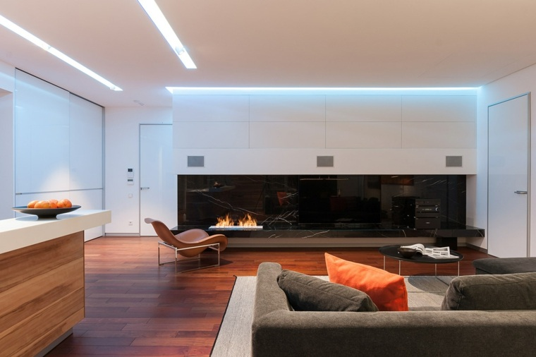 diseño salon moderno madera DECO