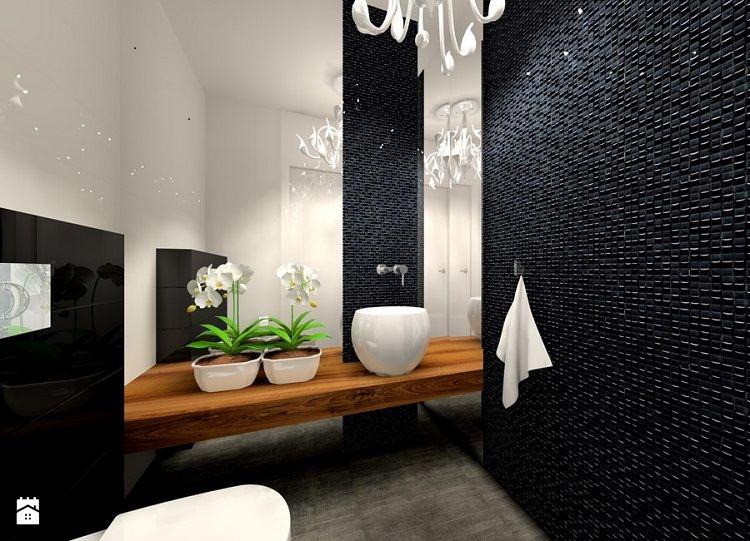 gresite baños estilo moderno negro