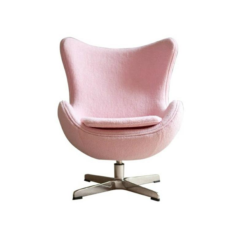 diseño sillón color rosa claro
