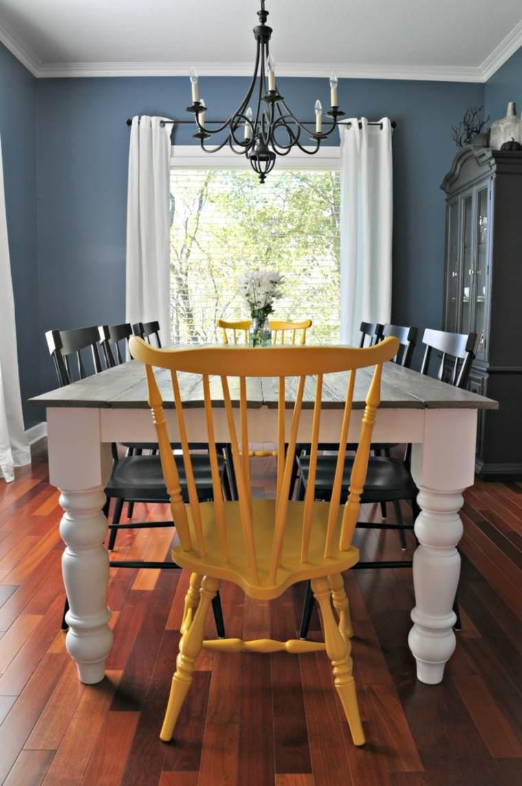 diseño silla estilo vintage amarilla