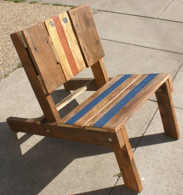 diseño silla madera reciclada