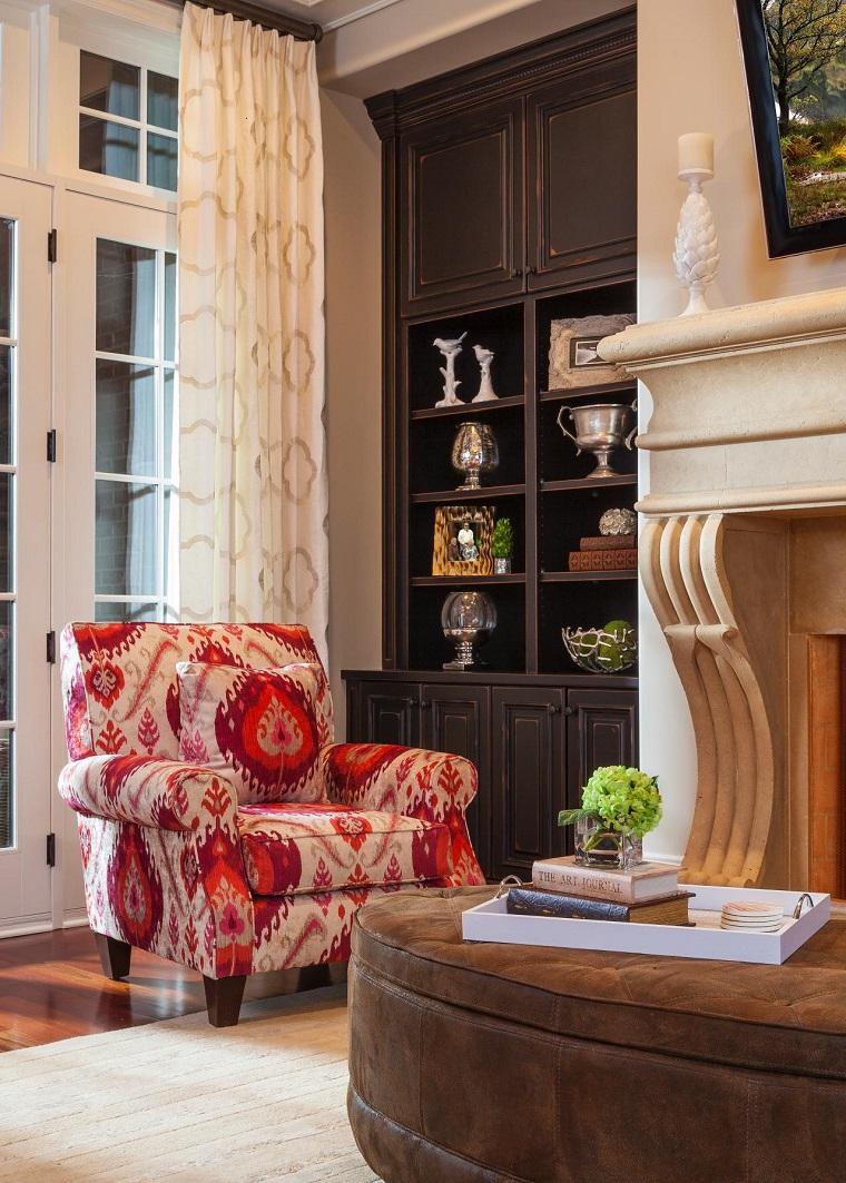 diseño sillón tapizado motivos